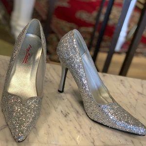Fully Silver Sparkled Stilettos